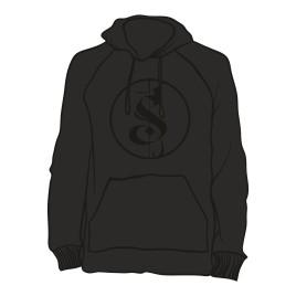Hoodie Separate Logo schwarz auf schwarz