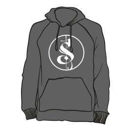 Grauer Separate Logo Hoodie