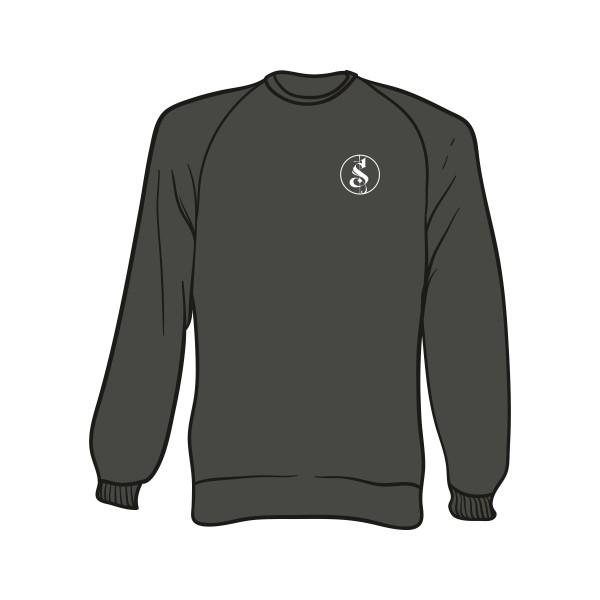 Grauer Separate Logo Sweater