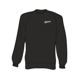 Schwarzer Sweater mit Separate Schriftzug