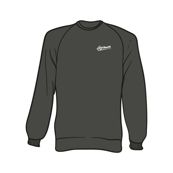 Grauer Sweater mit Separate Schriftzug