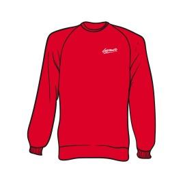Roter Sweater mit Separate Schriftzug