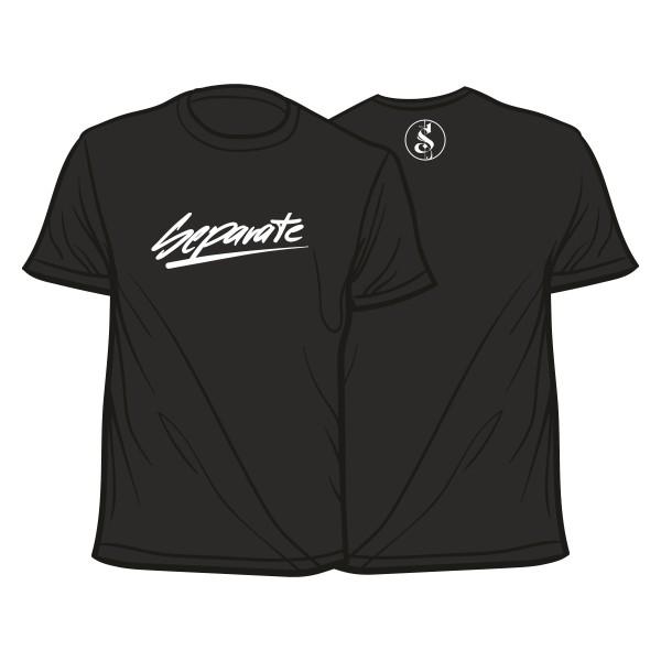 Separate Schriftzug Shirt Schwarz